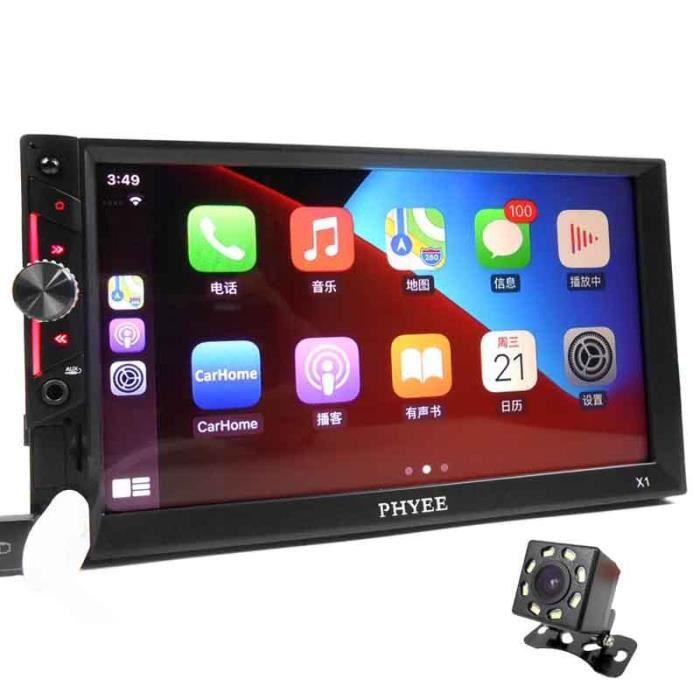 avec un appareil photo Autoradio Carplay, récepteur stéréo RDS, Bluetooth, mirrorlink, HD, lecteur MP5, USB T