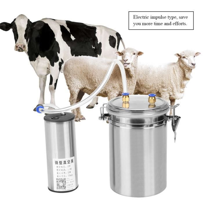 Machine à Traire Électrique Vache Mouton 2L avec Pompe à vide Trayeuse Automatique en Acier Inoxydable Facile à Utiliser, #1