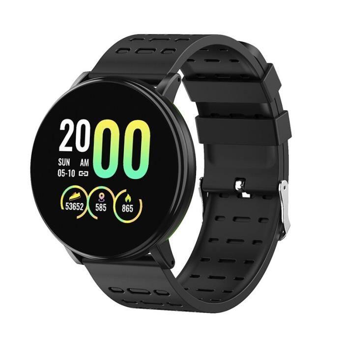 119 Plus Smart Bracelet Montre Fréquence Cardiaque Montre Intelligente Bracelet Smartwatch Pour Android IOS-noir