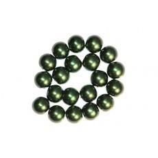 30 x Perle en Verre Nacrée 10mm Vert Foncé
