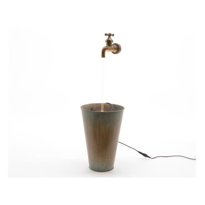 Fontaine sceau zinc à LED