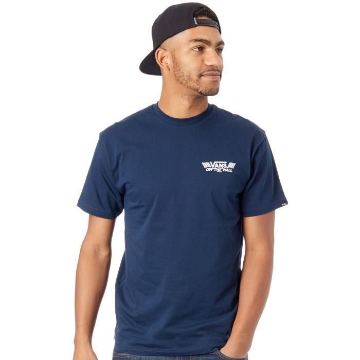 Tee shirt Vans Crossed Sticks Bleu Fonce
