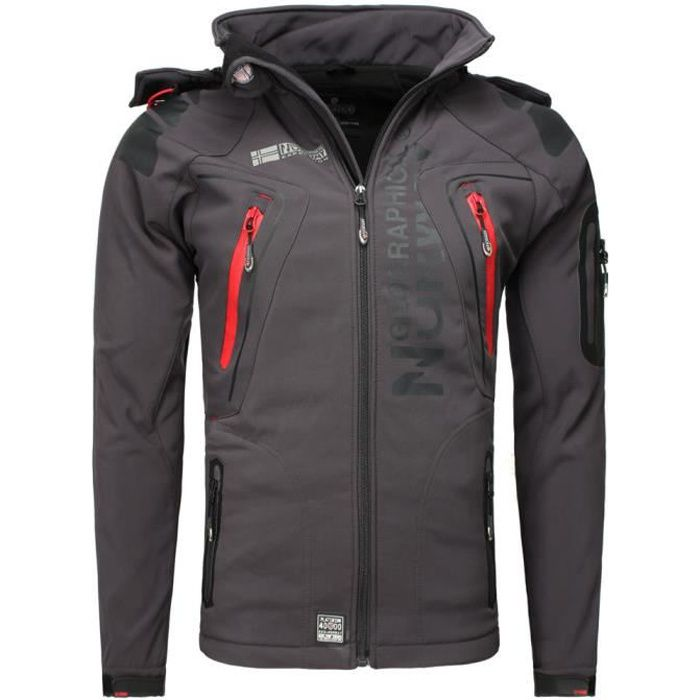 Veste softshell Geographical Norway Veste Techno gris foncé S