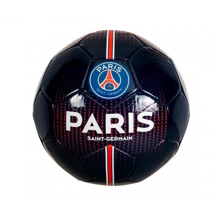 Ballon de Football Officiel PSG Paris Saint-Germain Noir et Bleu Marine Taille 5
