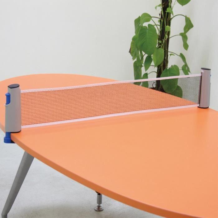 Téléscopique Filet de tennis de table Portable filet Kit de ping-pong - couleur aléatoire