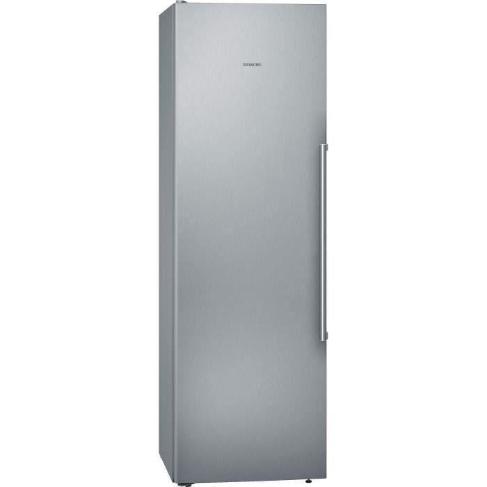 SIEMENS KS36VAIEP - Réfrigérateur 1 porte - 346 L - Froid brassé - L 60 x H 186 cm - Inox