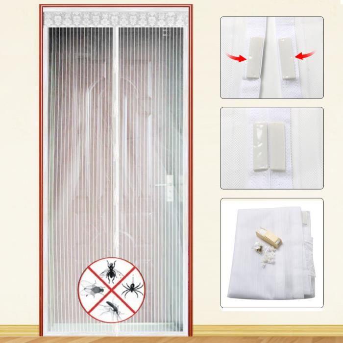 TRIXES Filet Écran Insecte Punaise Porte Magnétique 83 x 36