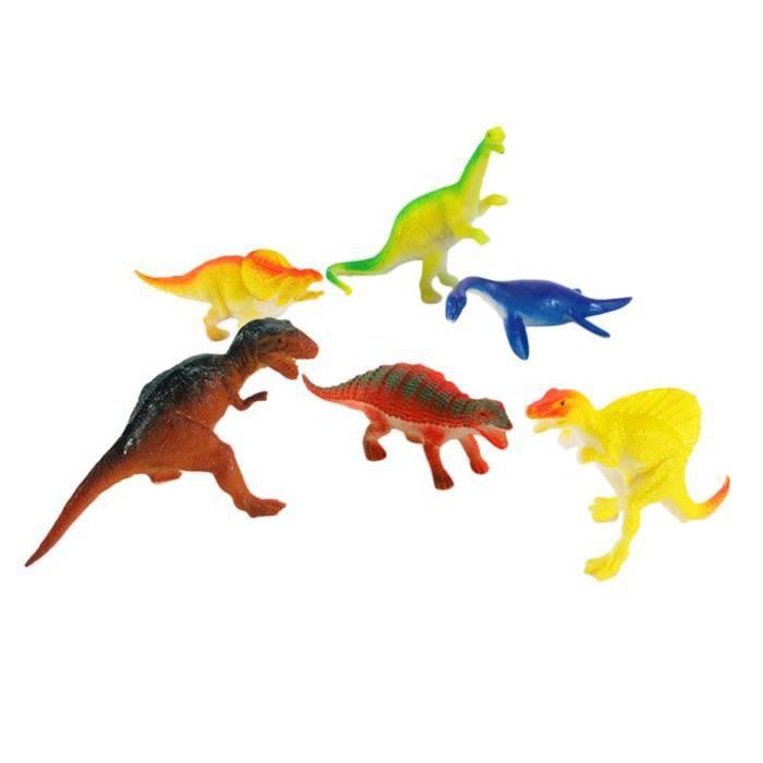 Réaliste Dinosaure Jouets Mini Dino Figurines Animaux Chiffres Modèles pour Garçons Enfants Enfants Enfants 6 PCS@M2303
