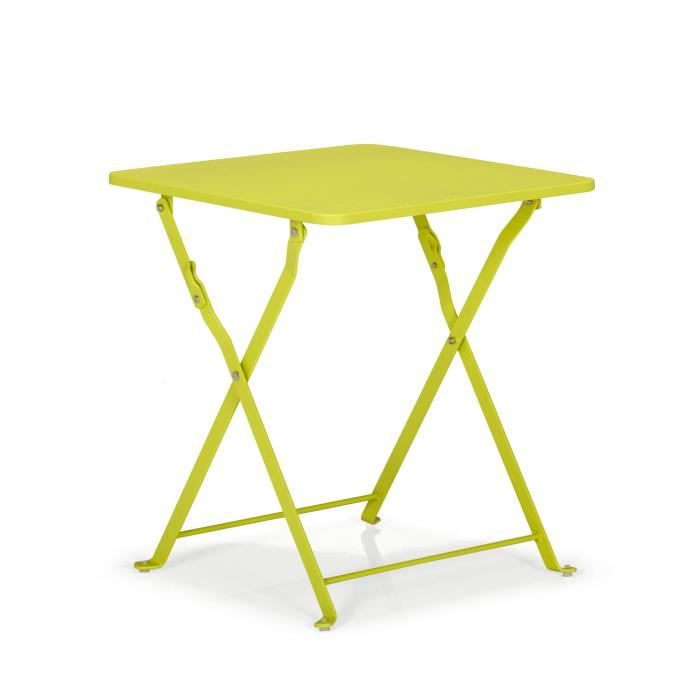 ted jardin table basse d 39 appoint pliante verte vert achat vente table basse jardin ted. Black Bedroom Furniture Sets. Home Design Ideas