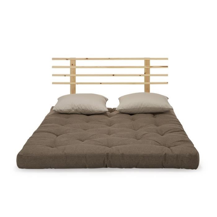 shin sano matelas futon chocolat et beige achat vente. Black Bedroom Furniture Sets. Home Design Ideas