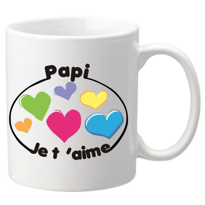 mug r f 8py je t 39 aime papi cadeau pour la f te des grands p res no l anniversaire. Black Bedroom Furniture Sets. Home Design Ideas