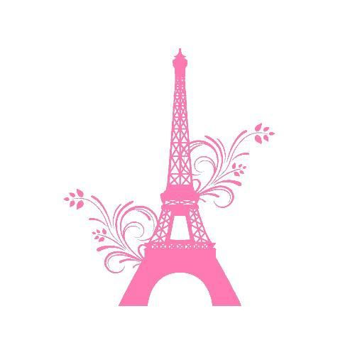 stickers tour eiffel fleur ref odz2101 rose clair 57x70 cm achat vente stickers soldes. Black Bedroom Furniture Sets. Home Design Ideas
