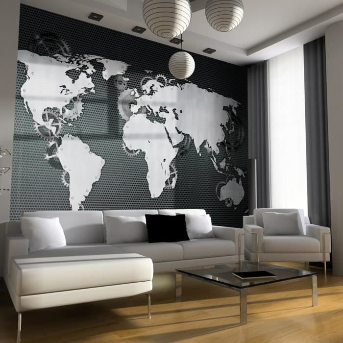 poster mural carte du monde achat vente poster mural. Black Bedroom Furniture Sets. Home Design Ideas
