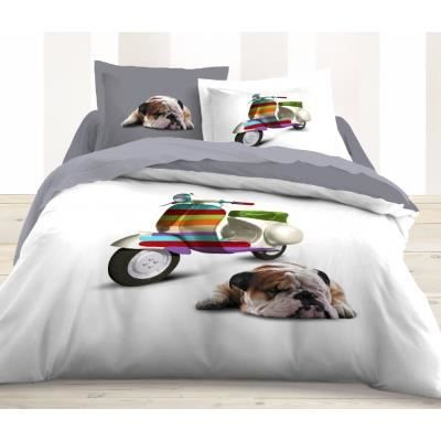 housse de couette et taies d 39 oreiller funny dog achat. Black Bedroom Furniture Sets. Home Design Ideas