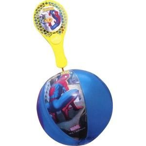 JOKARI - TAP-TAP LOT 10 TAP BALL SPIDERMAN BALLON 20CM+RAQUETTE