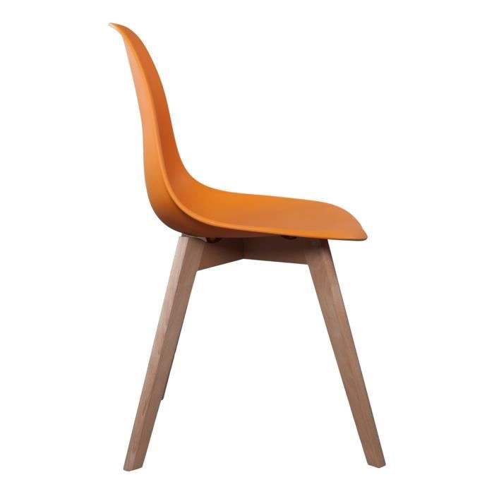 chaise scandinave coque polypropyl ne orange achat vente chaise orange soldes cdiscount. Black Bedroom Furniture Sets. Home Design Ideas