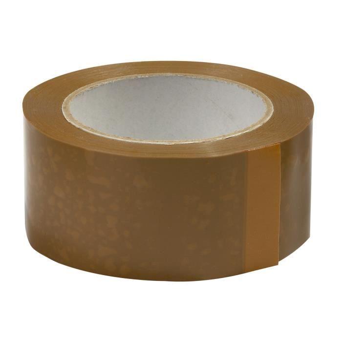 """6 Rouleaux d/'emballage brun ruban 48 mm x 50 m 2/"""" Bande Pistolet Distributeur"""