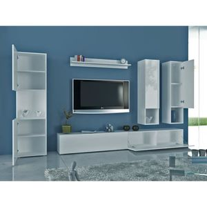 meuble tv suspendu achat vente meuble tv suspendu pas cher les soldes sur cdiscount. Black Bedroom Furniture Sets. Home Design Ideas