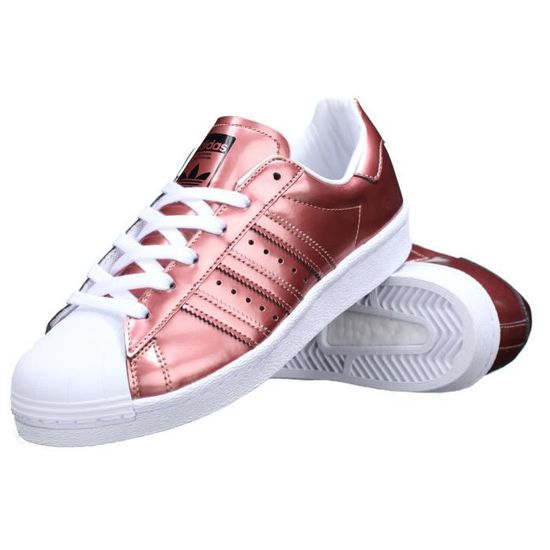 Basket Adidas Superstar W Bb2270 Bronze Rouge Rouge - Achat / Vente basket - Cdiscount