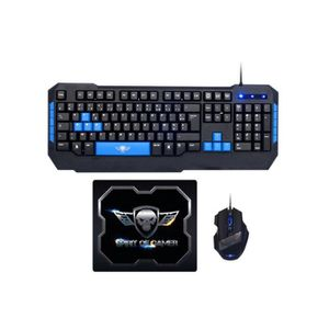PACK CLAVIER - SOURIS SPIRIT OF GAMER Pack Gaming Clavier - Souris - Tap