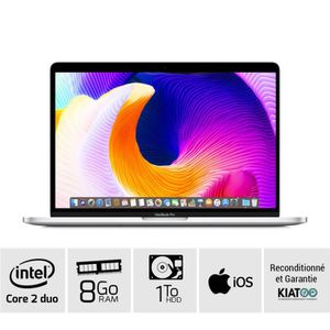 Achat PC Portable MACBOOK PRO 13 Gris A1278 core 2 duo 8 go ram 1 To HDD  disque dur clavier QWERTY pas cher