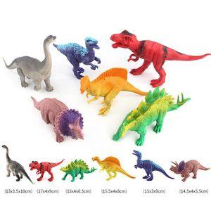 FIGURINE - PERSONNAGE Tonsee®6pc Sac de dinosaures Figurines de dinosaur