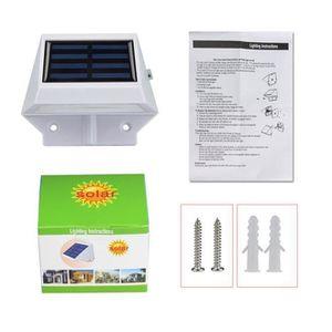 OBJETS LUMINEUX DÉCO  ouniondo® 4 LED solaire Escaliers Clôture Jardin S