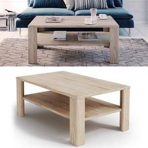 TABLE BASSE Table basse chêne Sonoma 42 x 100 x 60 cm