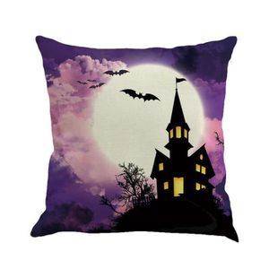 COUSSIN Halloween fantôme citrouille Taie Sofa taille cous