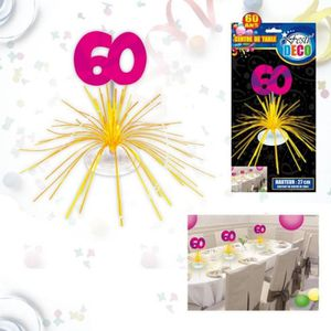 decoration table anniversaire 60 ans achat vente decoration table anniversaire 60 ans pas. Black Bedroom Furniture Sets. Home Design Ideas
