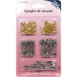 20 mini épingle à nourrice de sureté argenté 19 mm couture scrapbooking mercerie