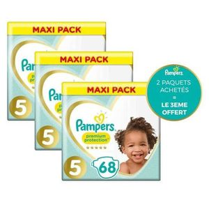 COUCHE PAMPERS Premium Protection Taille 5 - 69 couches -