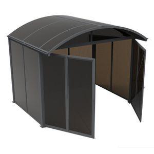 ABRI JARDIN - CHALET Abri de jardin en aluminium fermé 7,20m² toit et p