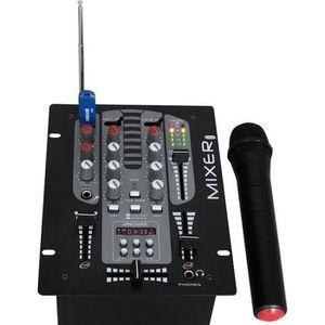 TABLE DE MIXAGE IBIZA SOUND DJM150BT-VHF Table de Mixage à 2 Voies