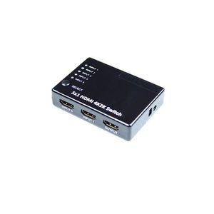 CÂBLE TV - VIDÉO - SON Switch HDMI 5 entrées- 1 sortie, Ultra HD 4Kx2K