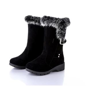 BOTTINE Femme Hiver Neige Cheville Boots solide chaud Four