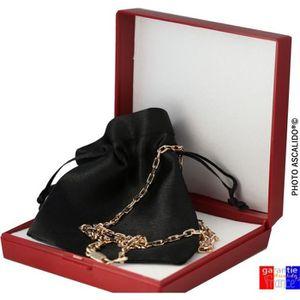 CHAINE DE COU SEULE collier 3mm plaqué or homme femme maille forcat. c