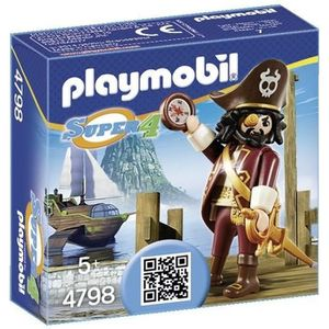 UNIVERS MINIATURE PLAYMOBIL 4798 Super4 Barbe De Requin