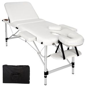 Table de massage TECTAKE Table de massage Pliante Bois 3 Zones Cadr
