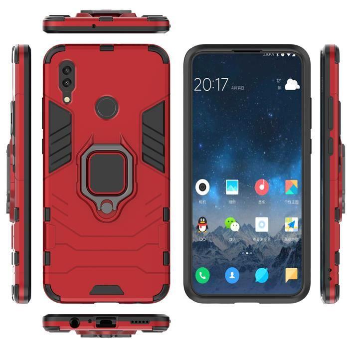 Coque Huawei P Smart 2019, étui de téléphone portable + protecteur d'écran, compatible avec le support de voiture magnétique (s