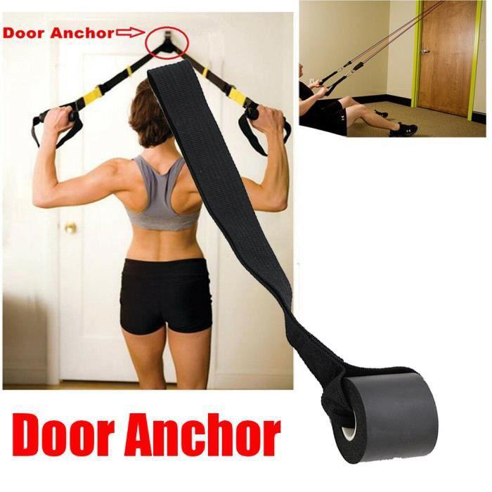 【élastique】Ancre de porte en mousse pour le train de force de renforcement musculaire de porte de tube de bande de