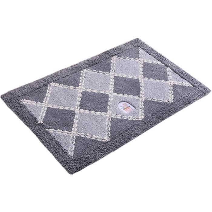 Absorbant antidérapant Paillasson Paillasson entrée Mat tapis de sol Grille/Gris