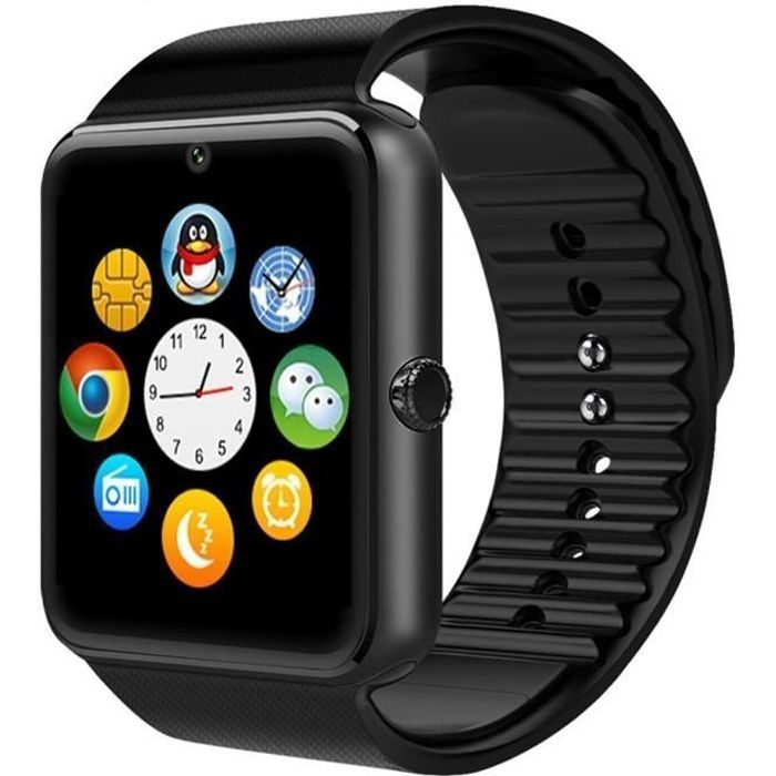 Date Wearable Bluetooth montre Smart Watch GT08 intelligente poignet Health Watch Phone avec fente pour carte SIM pour Android Samsu