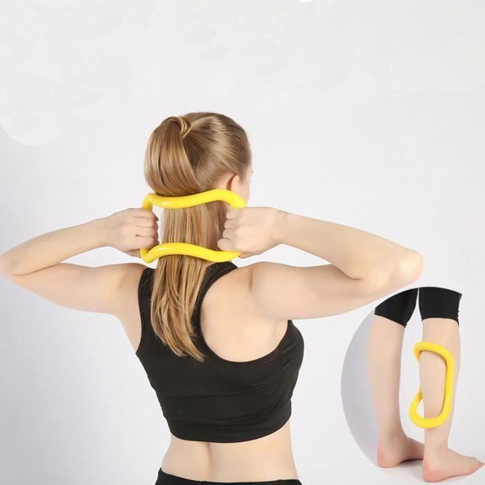 Anneau de Yoga Pilates fitness Circle entraînement résistance outil de soutien - jaune