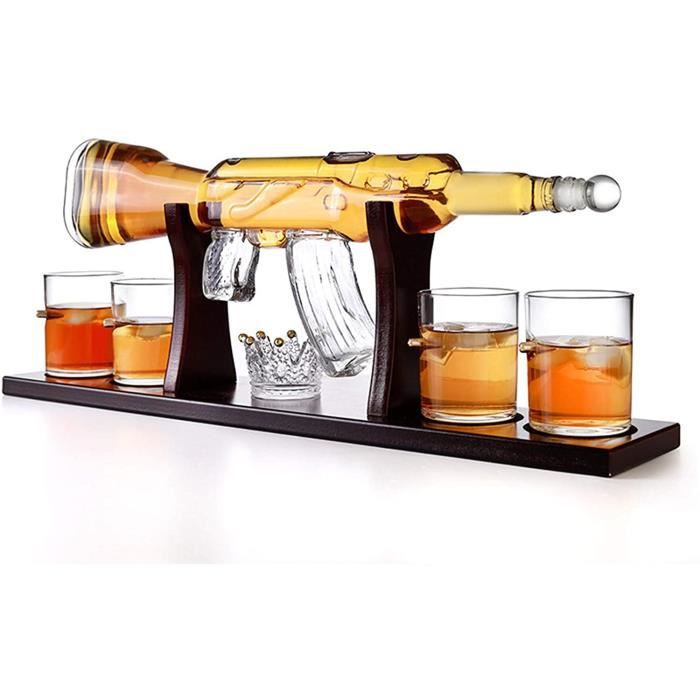 VERRE A VIN AFYH Deacutecanter Whisky Verrerie Ensembles Ensemble de Verres agrave Carafe agrave Whisky avec 4 Verres agrave bal576