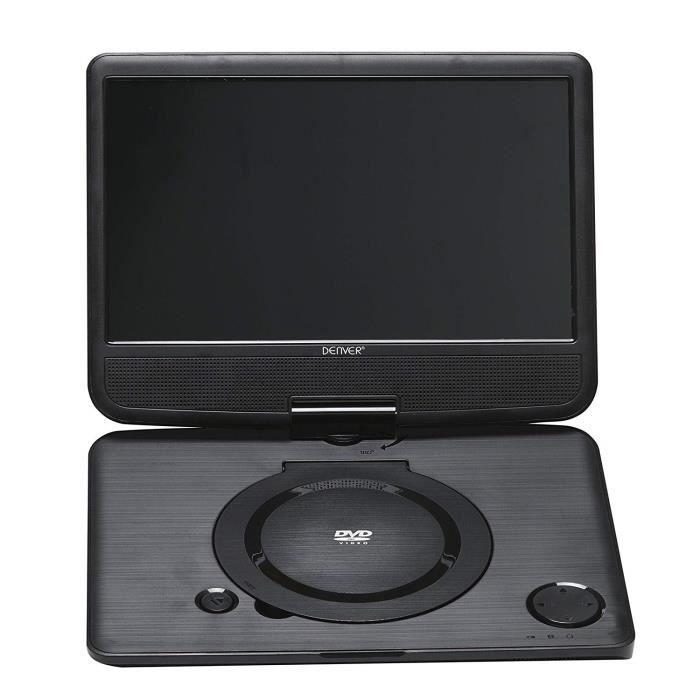 Denver Electronics 10- DVD Portable - Lecteurs DVD-Blu-Ray Portables (Lecteur DVD Portable, Convertible, Noir, CD Video, DVD, SVC