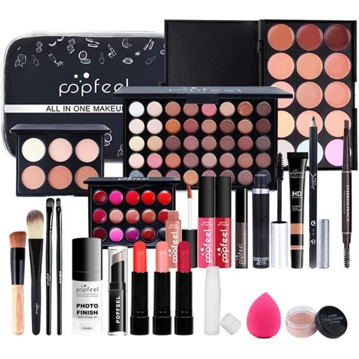 COFFRET DE MAQUILLAGE Coffret de maquillage tout-en-un, Kit de d&eacutemarrage 24PCS Makeup Essential, Coffret de maquillage 58