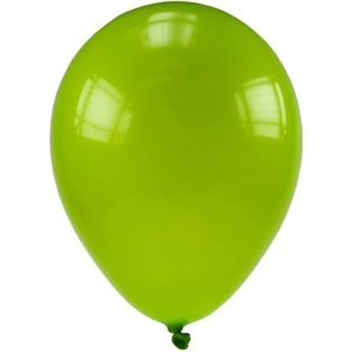 Lot de 100 ballons en latex opaque tilleul