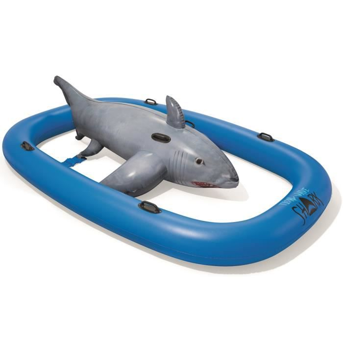 Jeu aquatique gonflable Géant BESTWAY WAVE SHARK RIDE Dim 310 x 213 cm Vinyle résistant