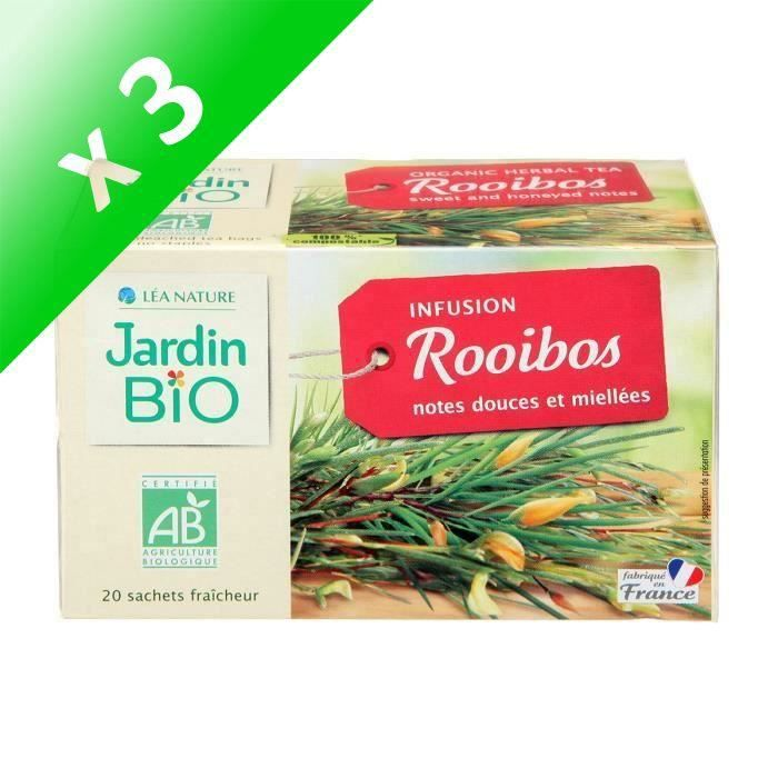 [LOT DE 3] JARDIN BIO Infusion rooïbos rouge d'Afrique du Sud bio - 34 g